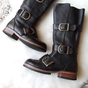 Gee Wawa | Anthro HIP 3 Buckle Knee High Boots